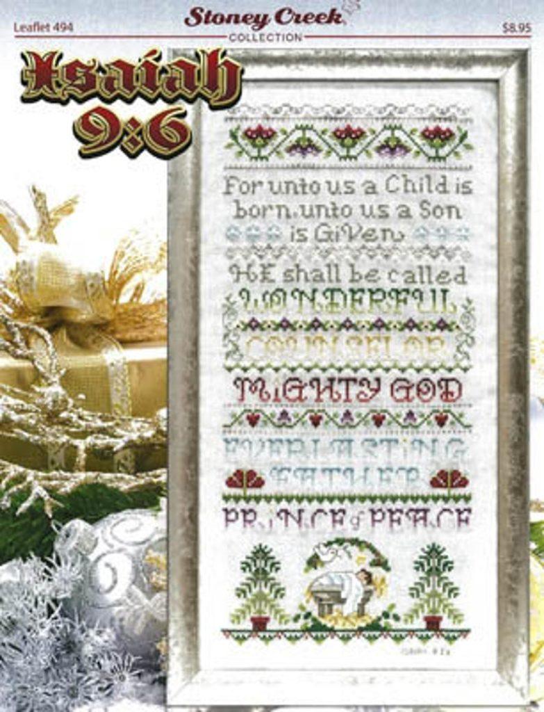 Stoney Creek ISAIAH 9:6 Cross Stitch Pattern