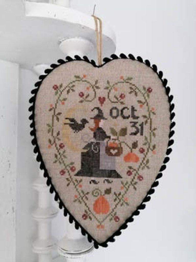 Tralala COEUR DE SORCIERE Cross Stitch Pattern ~ Halloween Cross Stitch
