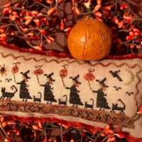 Homespun Elegance TRICK Or TREAT PARADE Cross Stitch Pattern