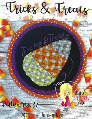 Little Stitch Girl TRICKS & TREATS Cross Stitch Pattern