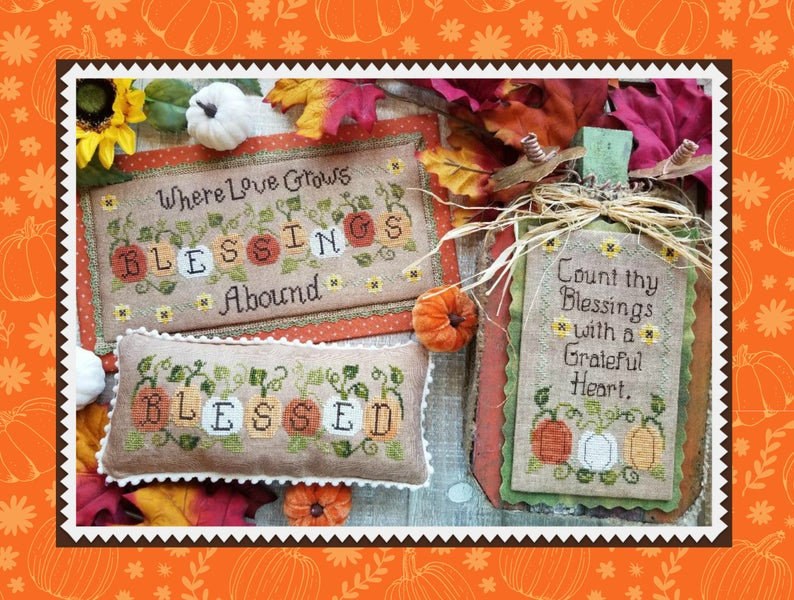 Waxing Moon Designs BLESSINGS ABOUND Cross Stitch Pattern