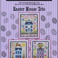 Waxing Moon Designs EASTER HOUSE TRIO Cross Stitch Pattern