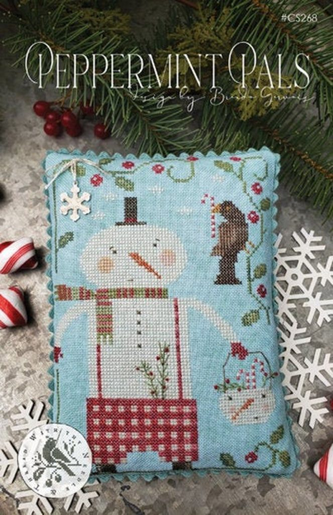 With Thy Needle & Thread PEPPERMINT PALS Cross Stitch Pattern