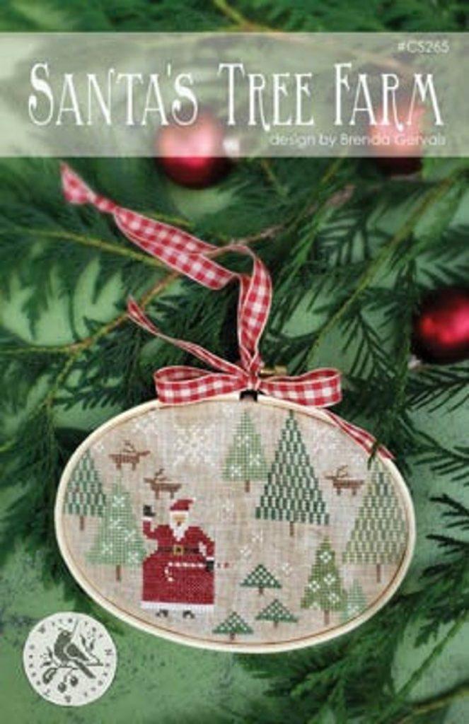 With Thy Needle & Thread SANTA'S TREE FARM Cross Stitch Pattern