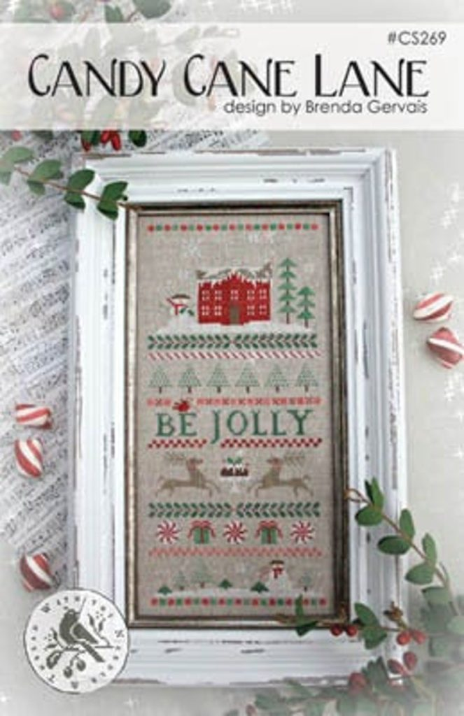 With Thy Needle & Thread CANDY CANE LANE Cross Stitch Pattern