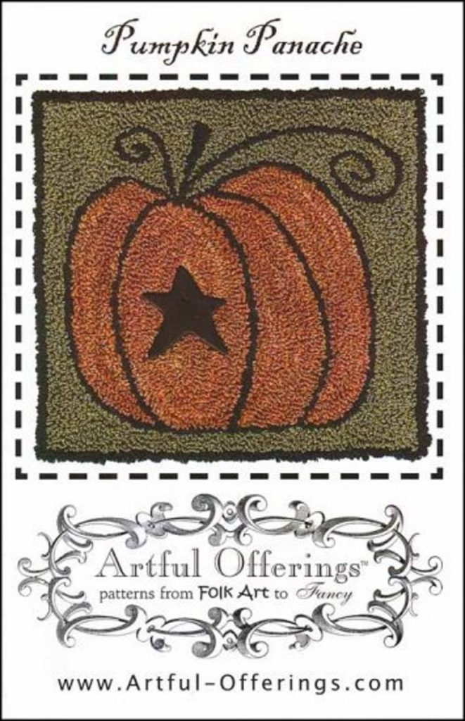 Artful Offerings PUMPKIN PANACHE Punch Needle Pattern
