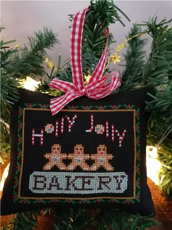 Twin Peak Primitives Holly Jolly CHRISTMAS SERIES BAKERY Cross Stitch Pattern