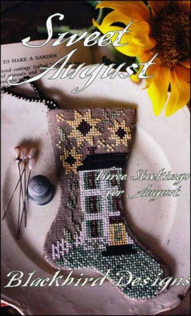 Blackbird Designs SWEET AUGUST Cross Stitch Pattern