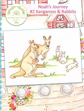 Crabapple Hill Studio NOAH'S JOURNEY #2 KANGAROOS and Rabbits Hand Embroidery Pattern