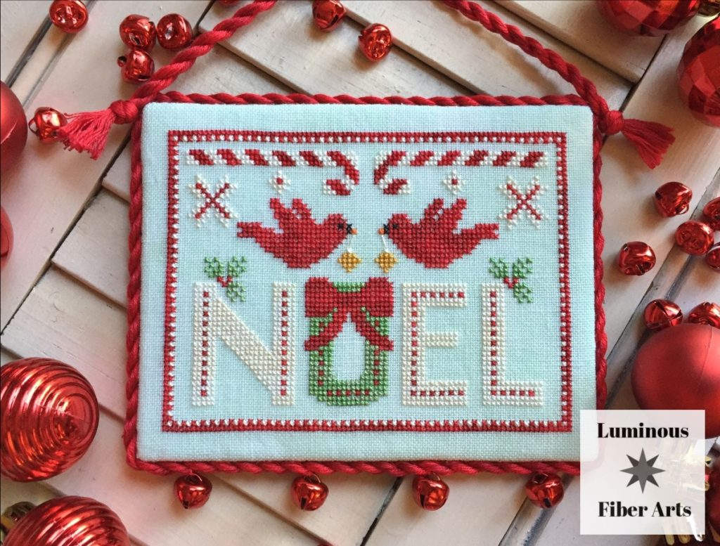 Luminous Fiber Arts CARDINAL NOEL Cross Stitch Pattern