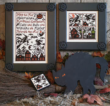 The Prairie Schooler CAT, BATS & WITCHES Cross Stitch Pattern