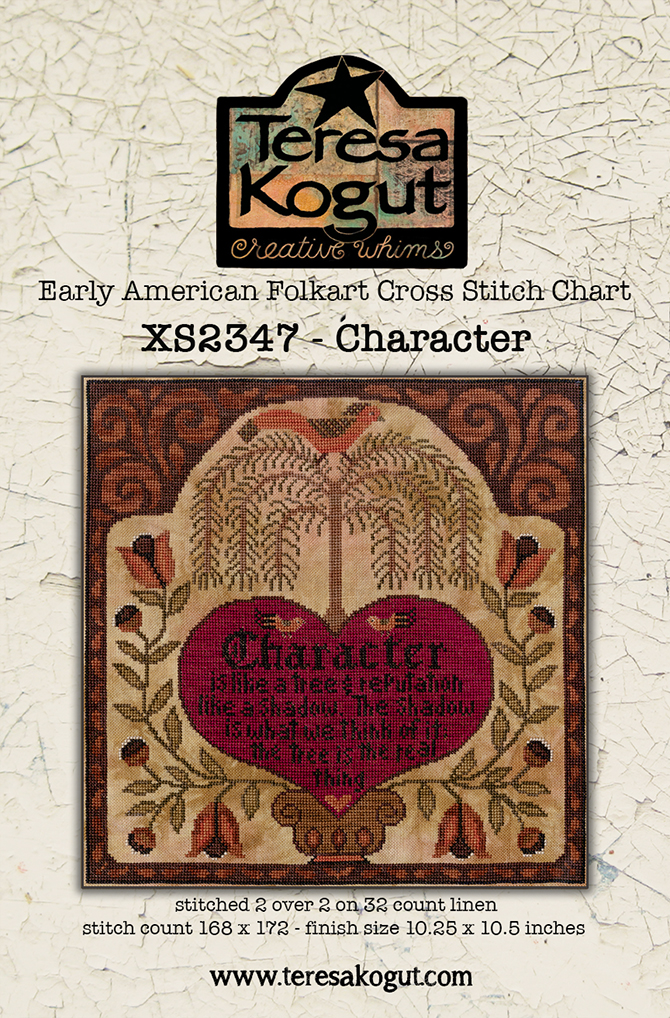 Teresa Kogut CHARACTER Cross Stitch Pattern - Early American Folk Art