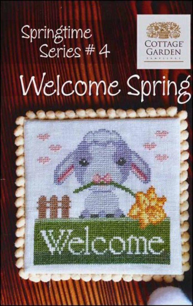 Cottage Garden Samplings WELCOME SPRING Cross Stitch Pattern