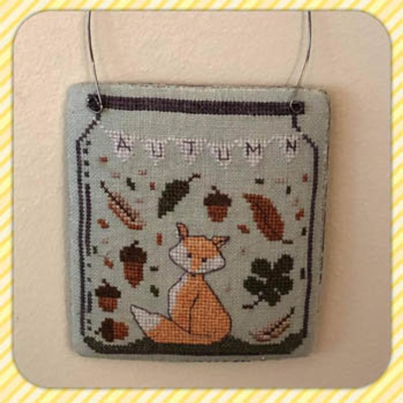 Dames of the Needle AUTUMN IN a JAR - Cross Stitch Pattern