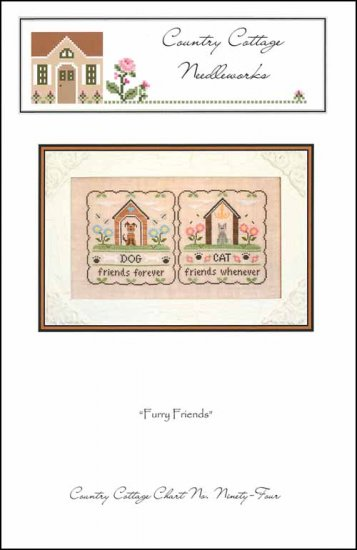 Country Cottage Needleworks FURRY FRIENDS Cross Stitch Pattern