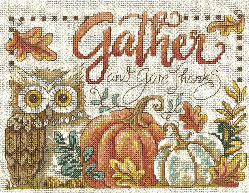 Imaginating GATHER & GIVE THANKS Cross Stitch Kit