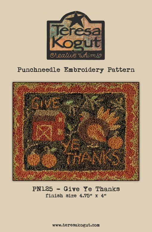 Teresa Kogut Punch Needle GIVE YE THANKS
