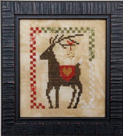 Heart in Hand Needleart DAZZLIN' DEER Cross Stitch Pattern