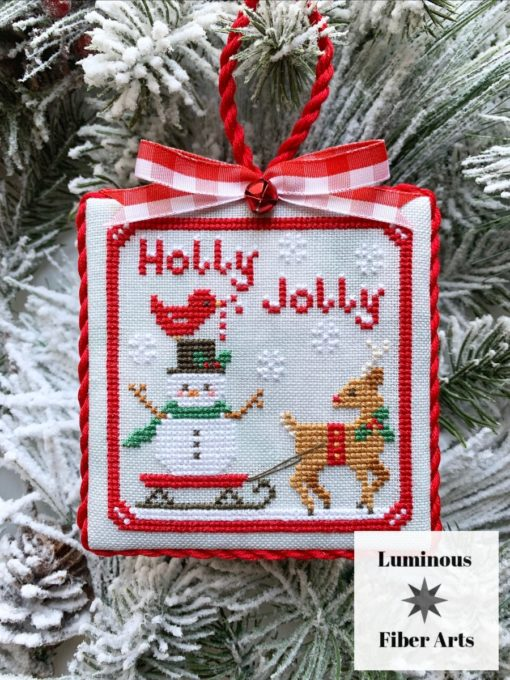 Luminous Fiber Arts HOLLY JOLLY Cross Stitch Pattern