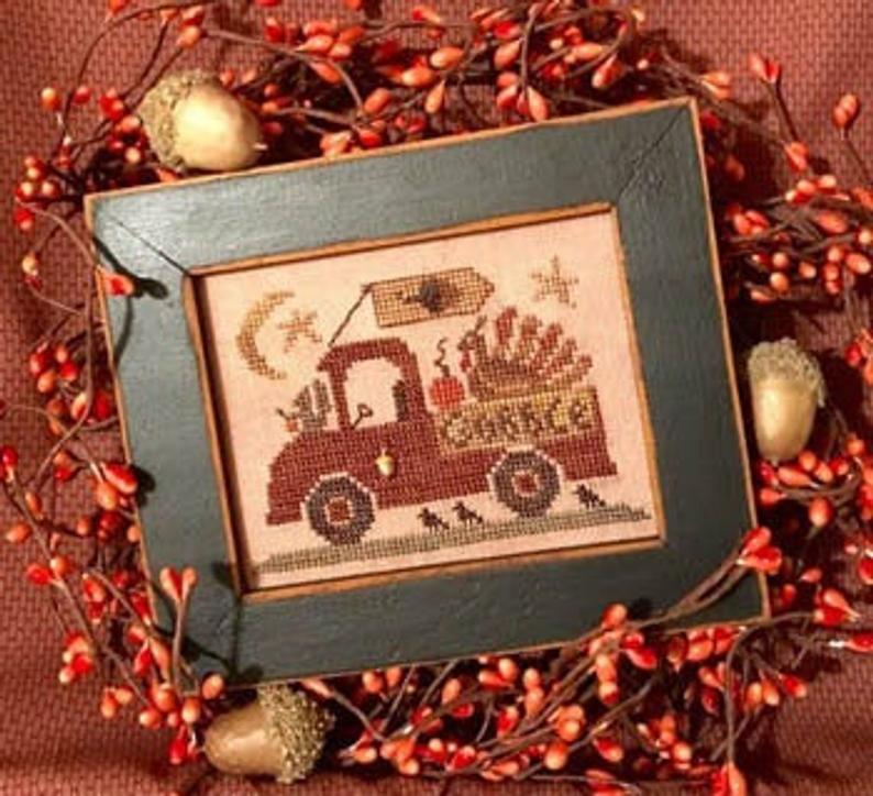 Homespun Elegance TURKEY TROT TRUCK Cross Stitch Pattern