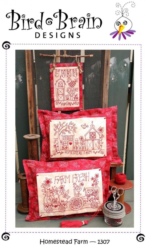 Bird Brain Designs HOMESTEAD FARM Hand Embroidery Pattern
