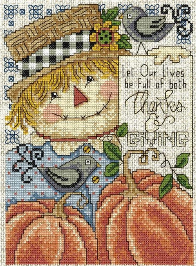 Imaginating FULL Of THANKS & GIVING Cross Stitch Pattern