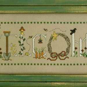 Imaginating GARDENING WELCOME Cross Stitch Kit