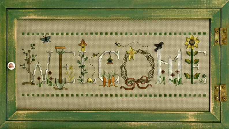 Imaginating GARDENING WELCOME Cross Stitch PATTERN