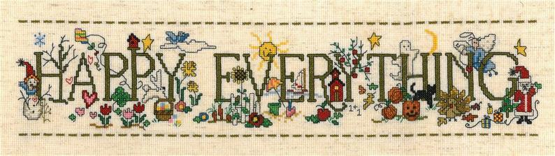 Imaginating HAPPY EVERYTHING Cross Stitch PATTERN