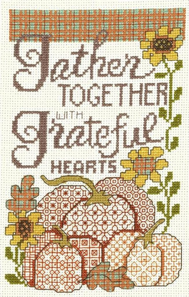 Imaginating SUNFLOWERS & PUMPKINS Cross Stitch Pattern