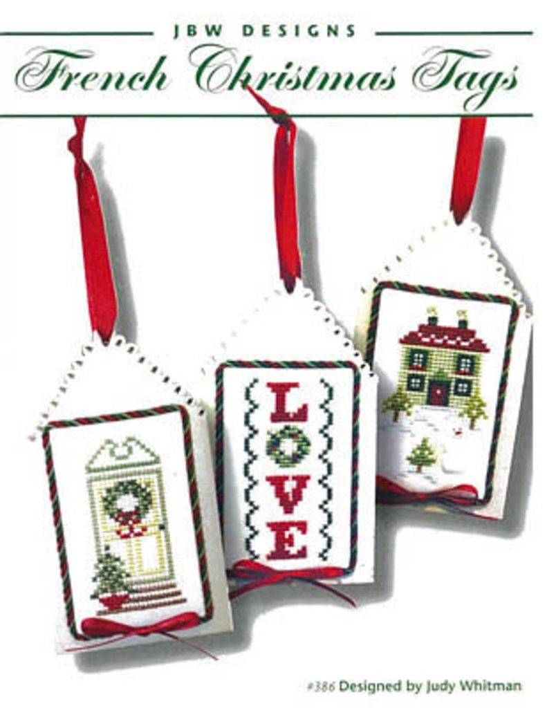 JBW Designs FRENCH CHRISTMAS Tags Cross Stitch Pattern