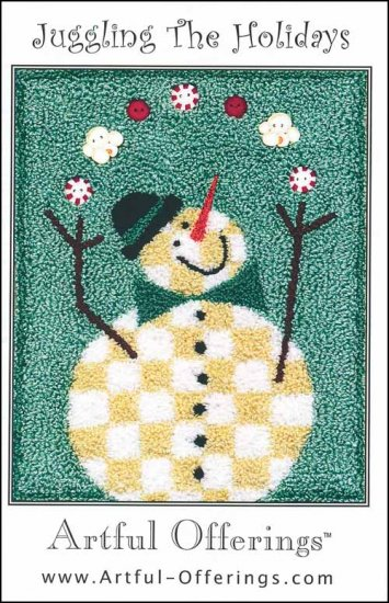 Artful Offerings JUGGLING THE HOLIDAYS Punch Needle Pattern