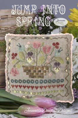 Jeannette Douglas Designs JUMP INTO SPRING Cross Stitch Pattern