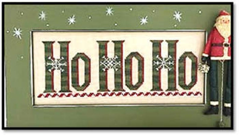 Kay's Frames & Designs HO HO HO (with 3 crystals) Cross Stitch Pattern