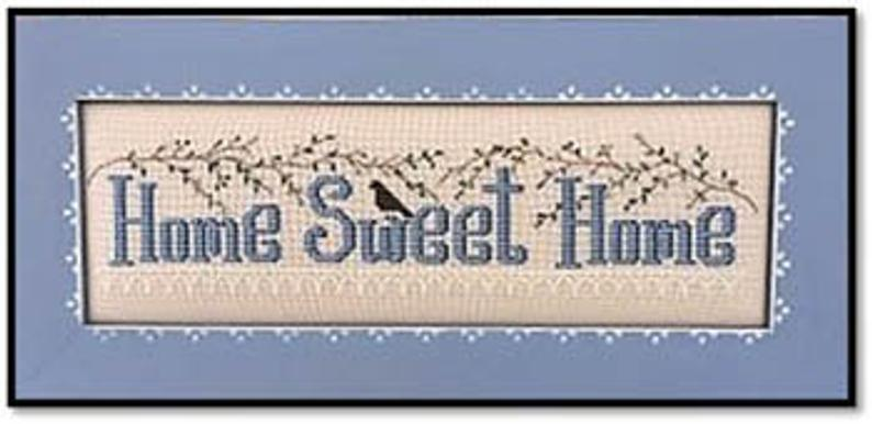 Kay's Frames & Designs HOME SWEET HOME (with beads) Cross Stitch Pattern