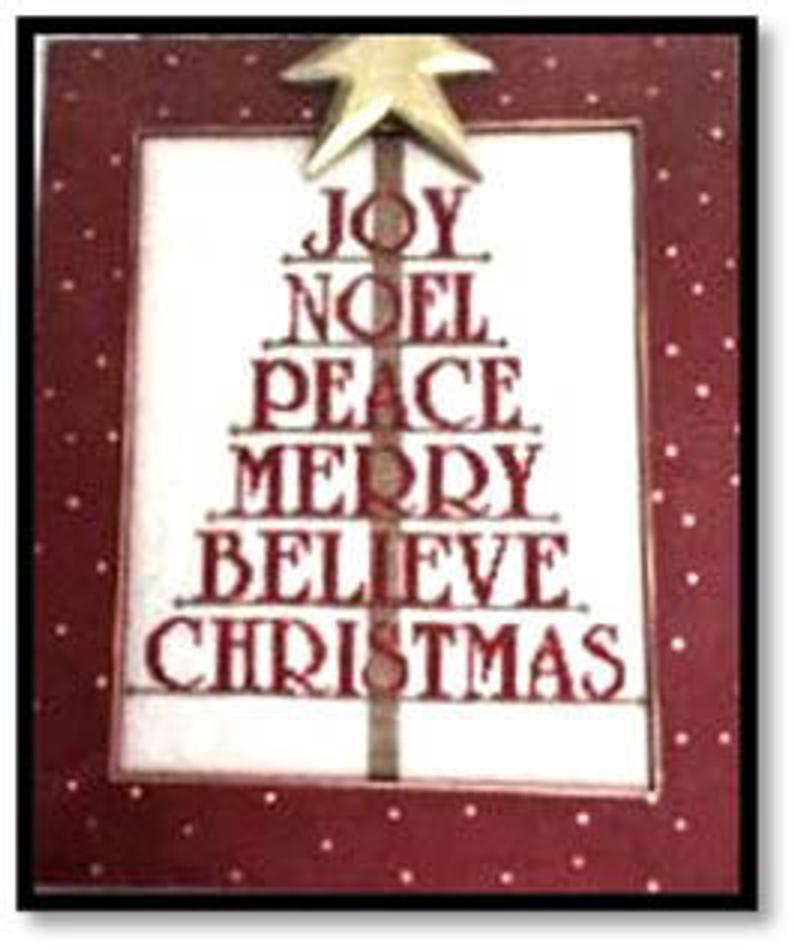 Kay's Frames & Designs TREE CHRISTMAS Cross Stitch Pattern