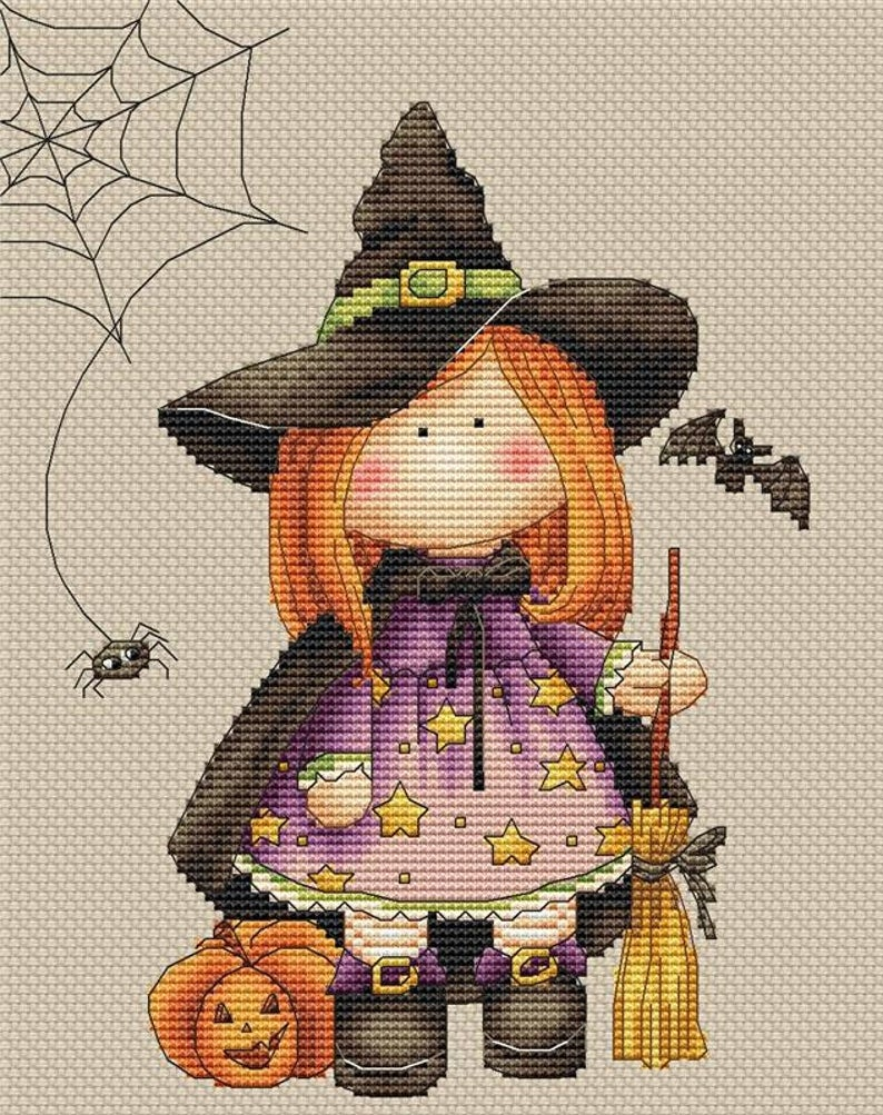 Les Petites Croix De Lucie TRICK OR TREAT Cross Stitch Pattern