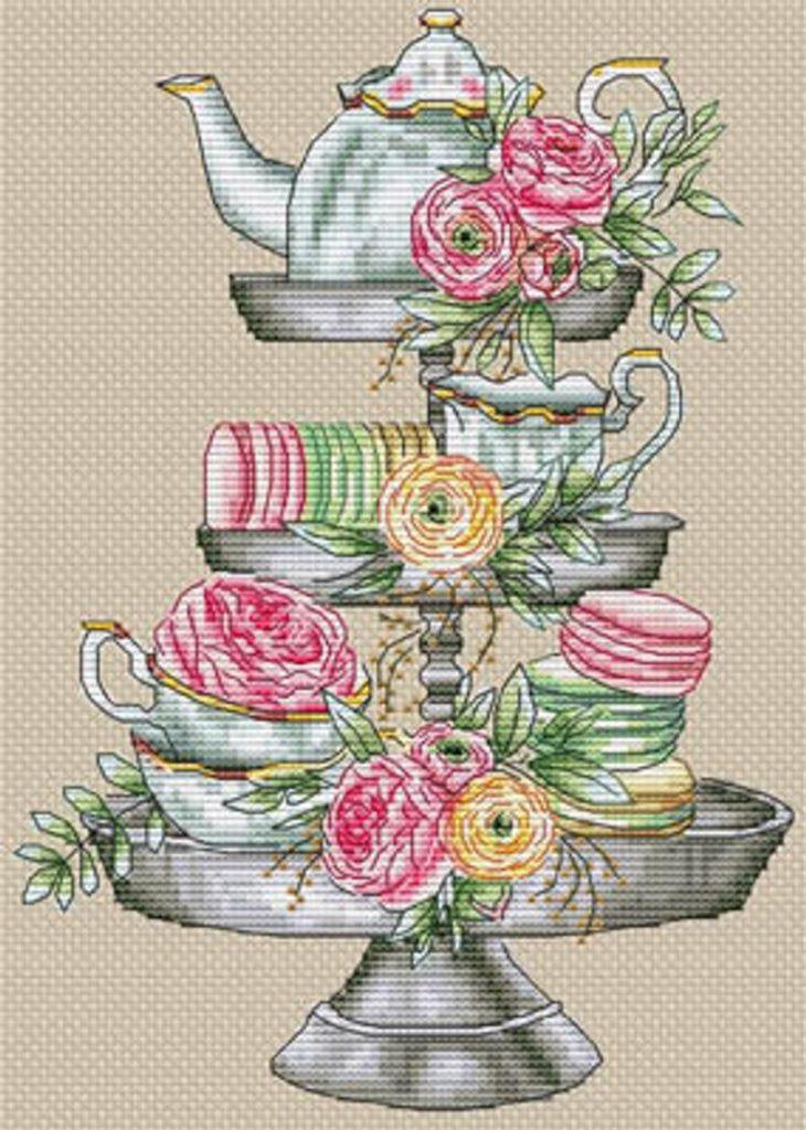 Les Petites Croix de Lucie GOURMET SHELF Cross Stitch Pattern