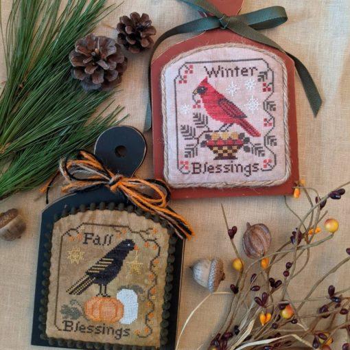 Lila's Studio SEASONS BLESSINGS Cross Stitch Pattern - 2 Cross Stitch Patterns