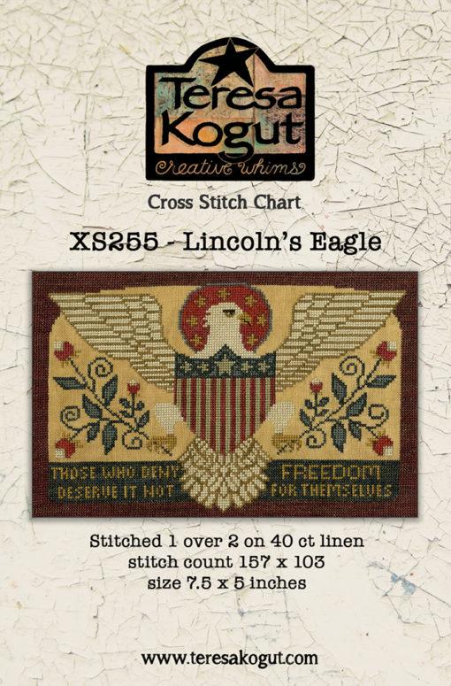 Teresa Kogut LINCOLN'S EAGLE Cross Stitch Pattern