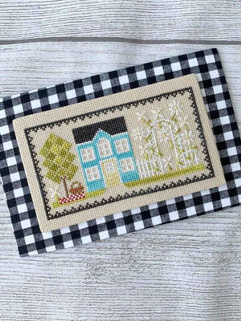Little Stitch Girl SUNSHINE HOUSE Cross Stitch Pattern