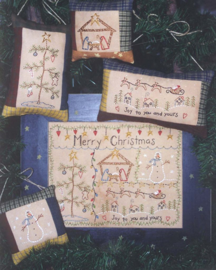 Bareroots MERRY CHRISTMAS Hand Embroidery Pattern