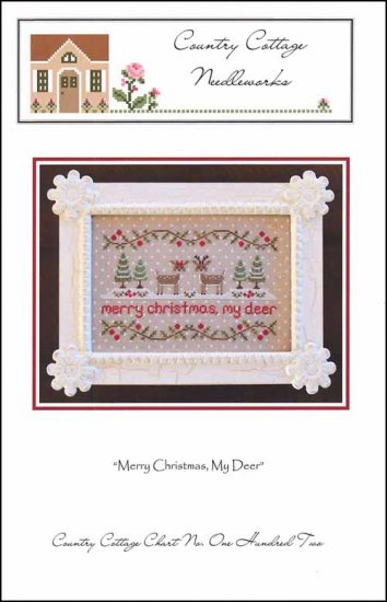 Country Cottage Needleworks MERRY CHRISTMAS My DEER Cross Stitch Pattern