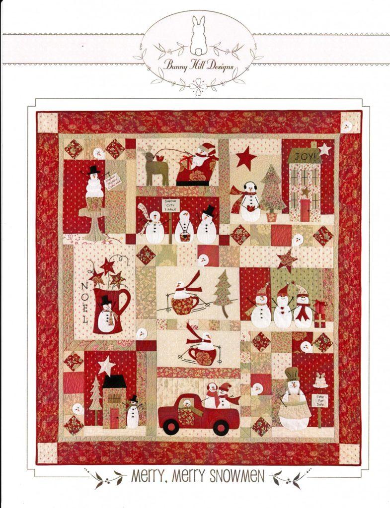 Bunny Hill Designs MERRY, MERRY SNOWMEN Quilt Pattern