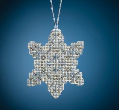 Mill Hill Crystal Snowflake Cross Stitch Kit