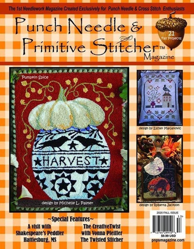 NEW! Autumn 2020 Punch Needle & Primitive Stitcher Magazine