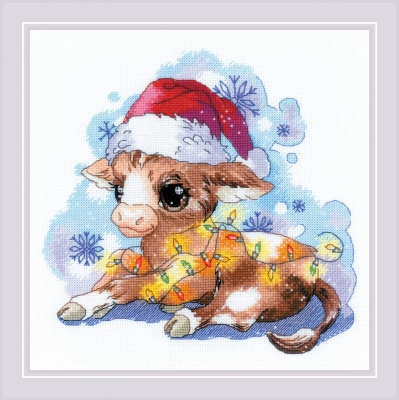 Riolis NEW YEAR'S CALF Cross Stitch Kit