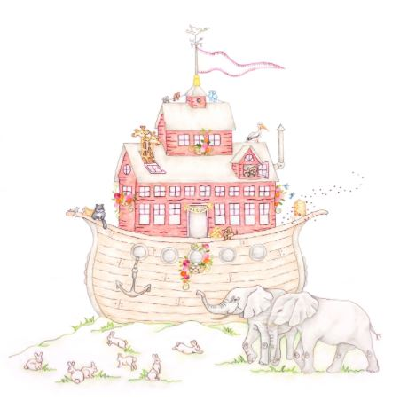 Crabapple Hill Studio NOAH'S JOURNEY #1 The ARK Hand Embroidery Pattern