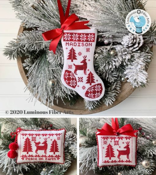 Luminous Fiber Arts NOEL ROUGE Cross Stitch Pattern