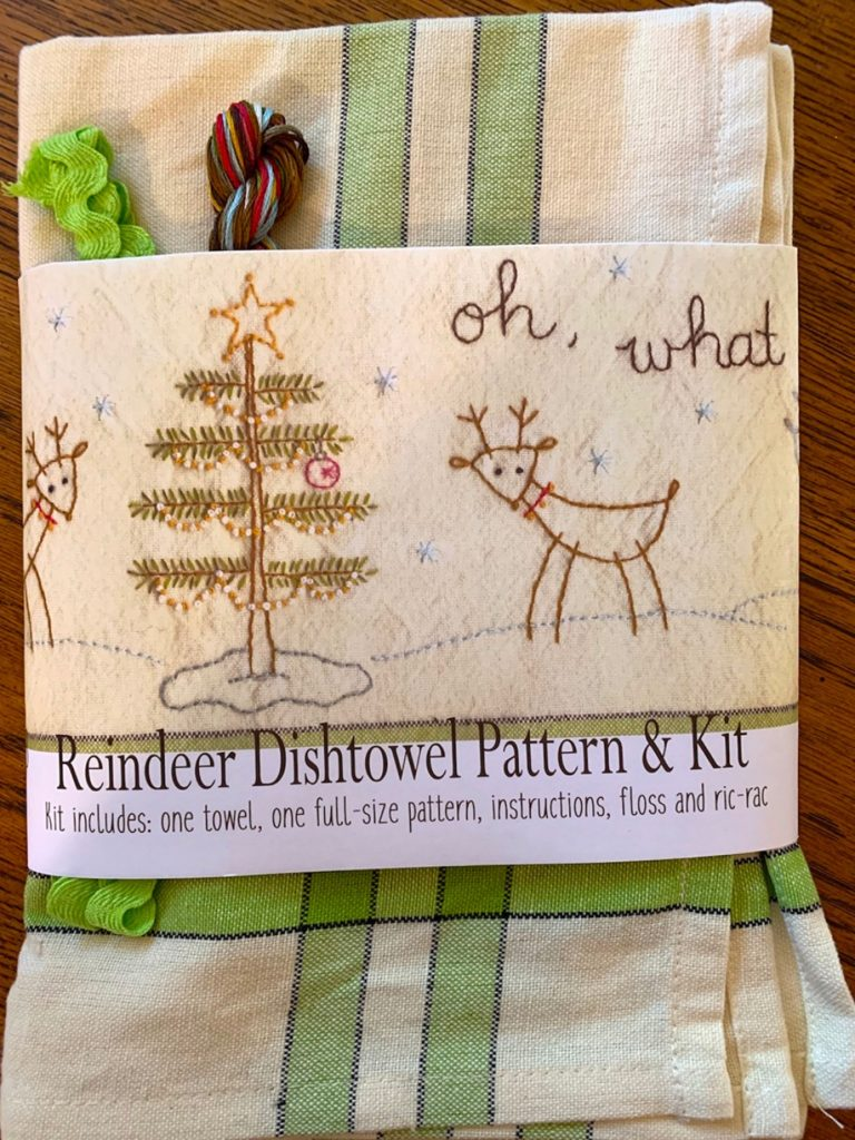 Bareroots OH WHAT FUN Hand Embroidery Dishtowel Kit